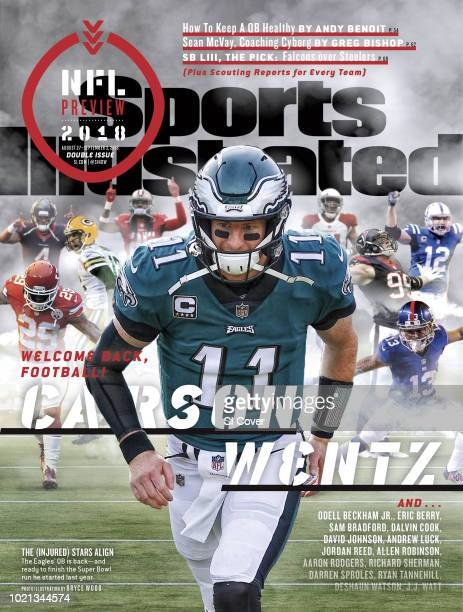 August 27 2018 September 3 2018 Sports Illustrated Cover NFL Season Preview Philadelphia Eagles QB Carson Wentz takes the field before game vs Los...