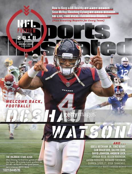 August 27 2018 September 3 2018 Sports Illustrated Cover NFL Season Preview Houston Texans QB Deshaun Watson taking field before game vs Tennessee...