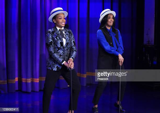 """August 27, 2021"""" Episode 133 -- Pictured: Amber Ruffin, Corin Wells --"""