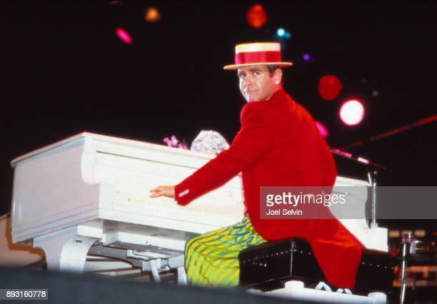 SAN FRANCISCO August 28 1984 Elton John on his 'Breaking Hearts' tour plays August 28 1984 at the Cow Palace in San Francisco