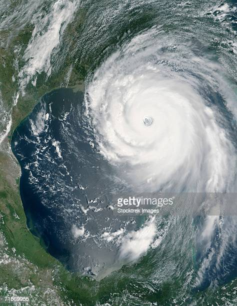 """august 28, 2005 - hurricane katrina approaching the gulf coast. "" - hurricane katrina stock pictures, royalty-free photos & images"