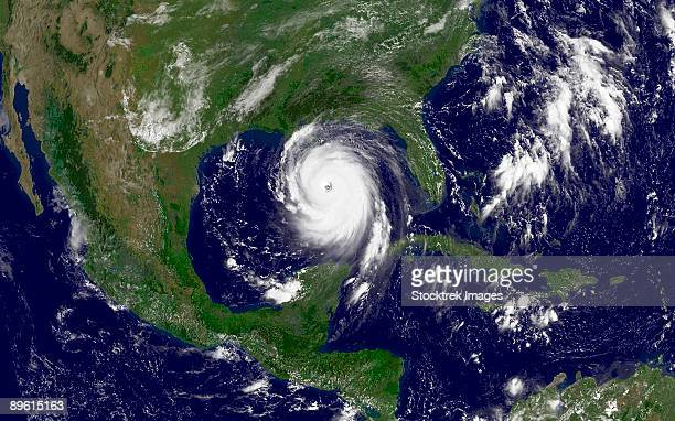 august 28, 2005 - hurricane katrina in the gulf of mexico.  - hurricane katrina stock pictures, royalty-free photos & images