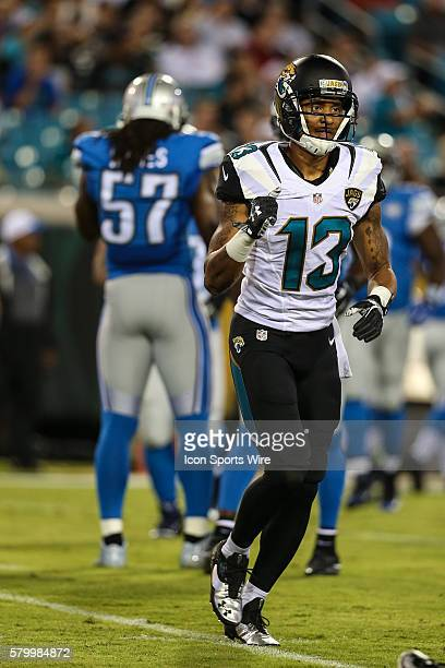 Jacksonville Jaguars wide receiver Rashad Greene during the preseason game between the Jacksonville Jaguars and the Detroit Lions at Everbank Field...