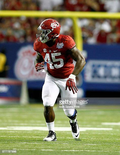 Alabama Crimson Tide running back Jalston Fowler lines up in the second half of play Alabama Crimson Tide defeated the West Virginia Mountaineers...