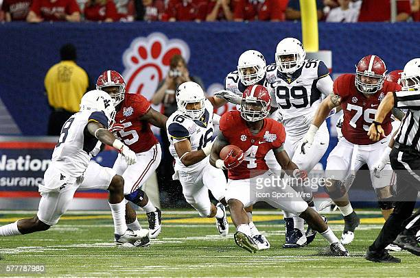 Alabama Crimson Tide running back TJ Yeldon in second half action Alabama Crimson Tide defeated the West Virginia Mountaineers 3323 at the Chick fil...