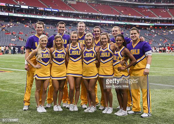 LSU Tigers cheerleaders during the AdvoCareTexas Kickoff NCAA football game between Wisconsin and LSU at NRG Stadium in Houston TX