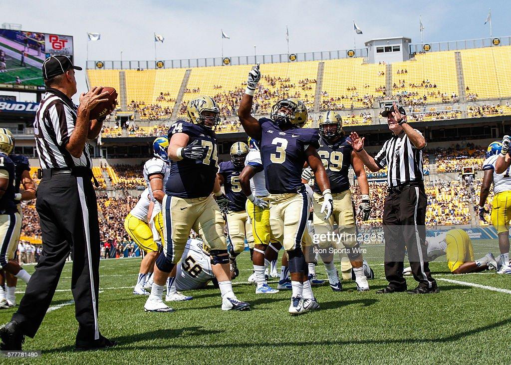 NCAA FOOTBALL: AUG 30 Delaware at Pitt : News Photo