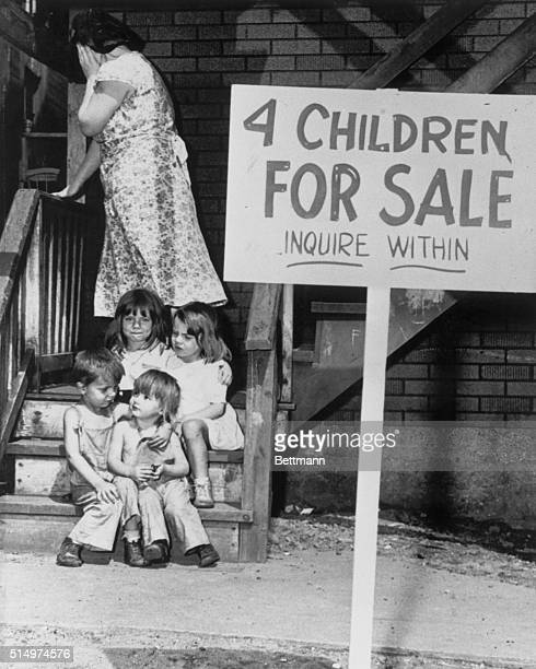 August 4 1948 Chicago Illinois They're on the auction block These small children of Mr and Mrs Ray Chalifoux of Chicago Illinois For long months 40...