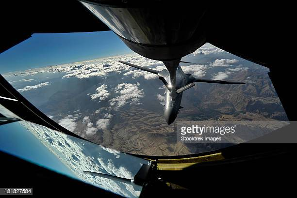 August 4, 2012 - A U.S. Air Force B-1B Lancer is refueled over Afghanistan during overseas contingency operations.