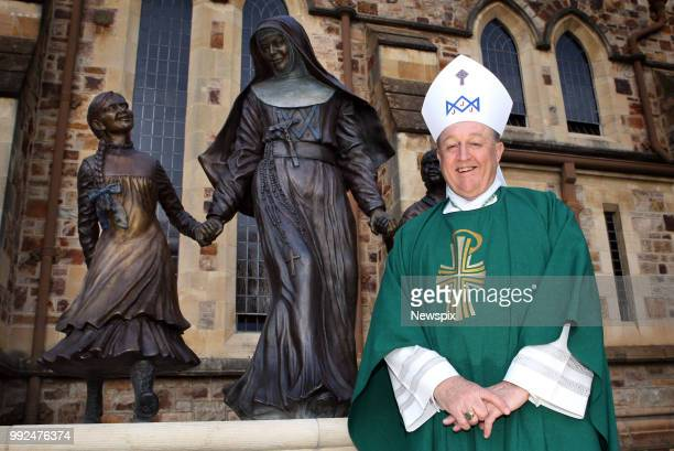 Adelaide SA Archbishop of Adelaide Philip Wilson at St Francis Xavier Cathedral following the service commemorating the 100th anniversary of the...