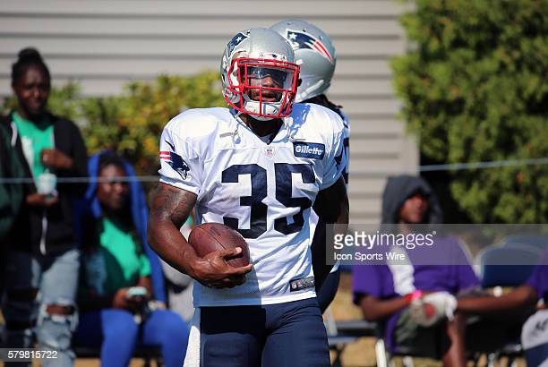 New England Patriots running back Jonas Gray during New England Patriots training camp