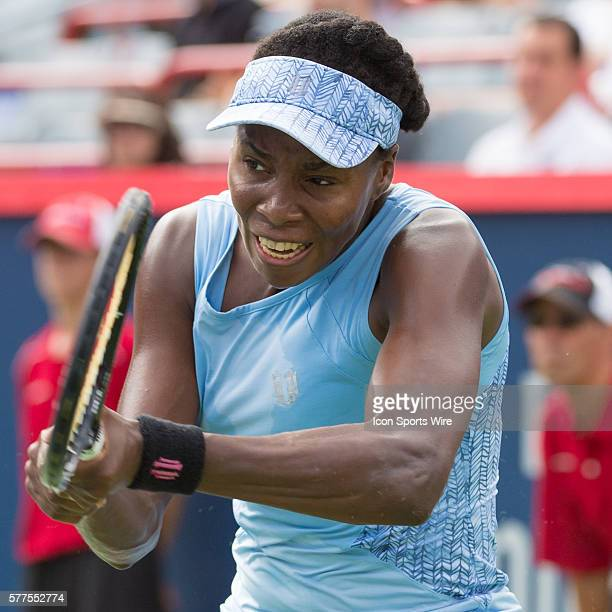 August 8th Tennis player Venus Williams plays against Carla Suarez Navarro in the quarter final round at the Rogers Cup tournament at the Uniprix...