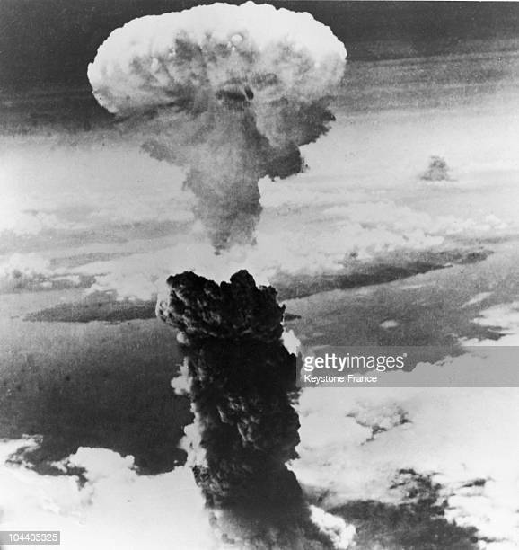 August 9 1945 The second American atomic bomb explodes above the city of Nagasaki Japan on the island of Kyushu producing a huge atomic mushroom in...
