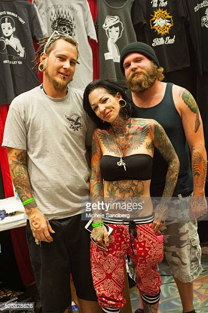 August 9, 2015 Tattoo Artist Skinny Charlie, Michelle Smades. 20th Annual South Florida Tattoo Expo with all proceeds benefitting Joe Dimaggio...