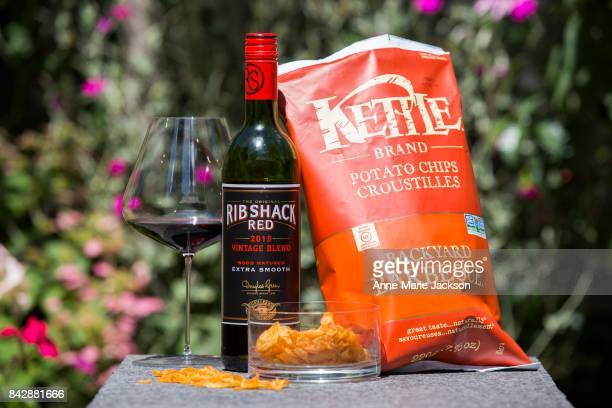 TORONTO ON August 9 2017 2015 Ribshack Red Vintage Blend South Africa and Kettle Brand Backyard Barbecue Potato Chips For column by Carolyn Hammond...