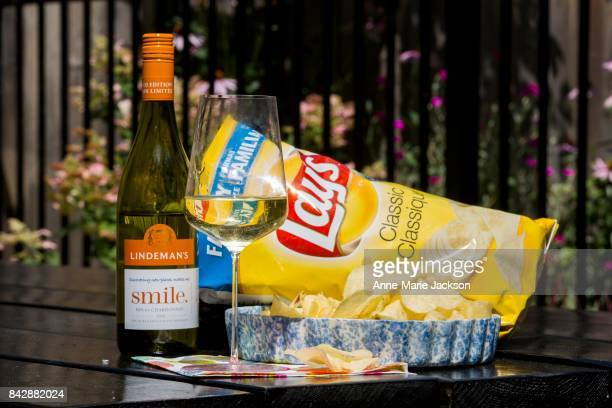 TORONTO ON August 9 2017 2016 Lindeman's Bin 65 Chardonnay Australia and Lays Classic Potato Chips For column by Carolyn Hammond on summer wine...