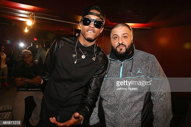 August Alsina and DJ Khaled attend August Alsina 'Testimony' Album Release Concert at SOB's on April 14 2014 in New York City