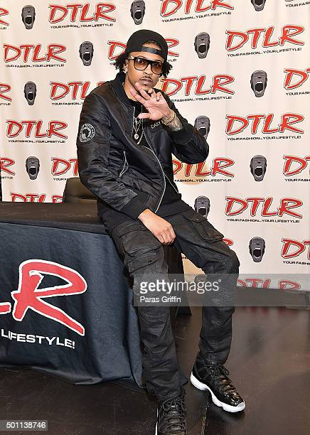 August Alsina attends his meet and greet at DTLR on December 12 2015 in Atlanta Georgia