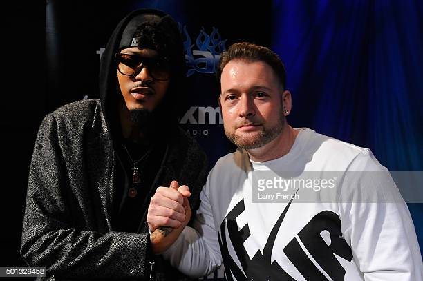 August Alsina is interviewed by DJ Chris Styles during SiriusXM Studios The Heat at SiriusXM Studio on December 14 2015 in Washington DC