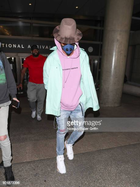August Alsina is seen at Los Angeles International Airport on February 26 2018 in Los Angeles California