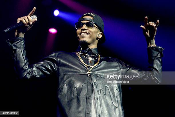 "August Alsina performs in support of his ""Testimony"" release at SAP Center on November 24, 2014 in San Jose, California."