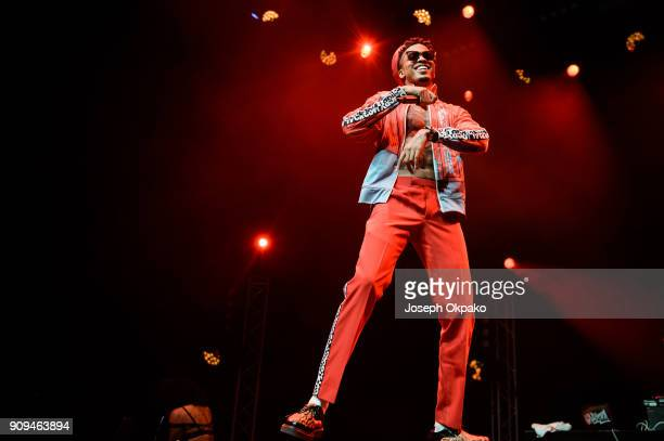 August Alsina performs live on stage at Indigo at The O2 Arena on January 23 2018 in London England