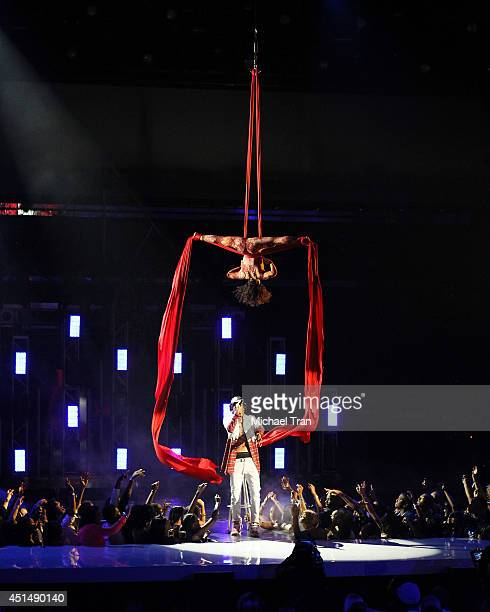 August Alsina performs onstage during the BET AWARDS 14 held at Nokia Theater LA LIVE on June 29 2014 in Los Angeles California