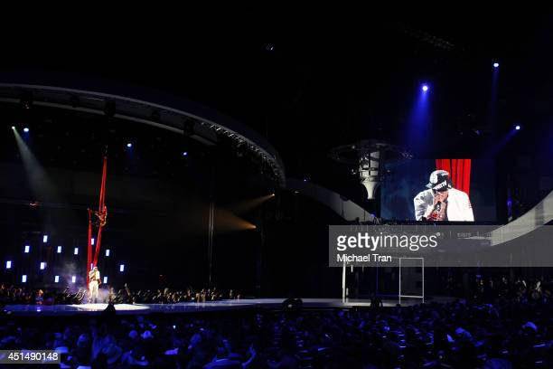 August Alsina performs onstage during the 'BET AWARDS' 14 held at Nokia Theater LA LIVE on June 29 2014 in Los Angeles California