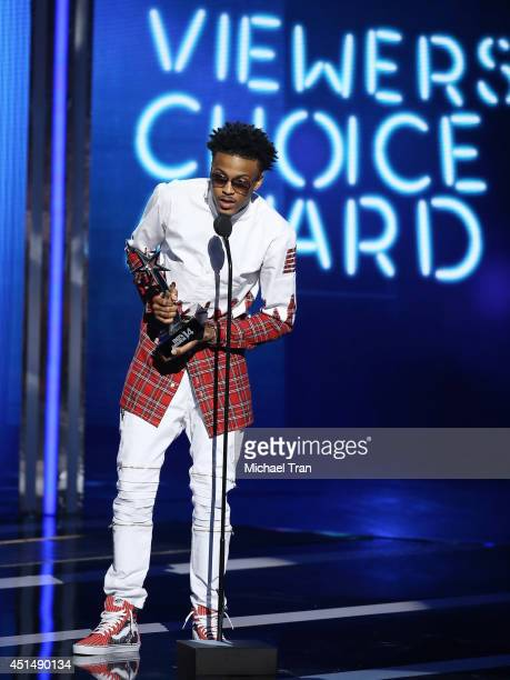 August Alsina speaks onstage during the 'BET AWARDS' 14 held at Nokia Theater LA LIVE on June 29 2014 in Los Angeles California