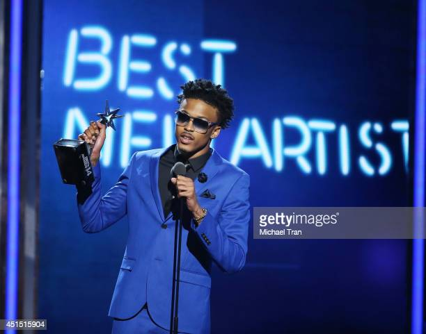 August Alsina speaks onstage during the BET AWARDS 14 held at Nokia Theater LA LIVE on June 29 2014 in Los Angeles California