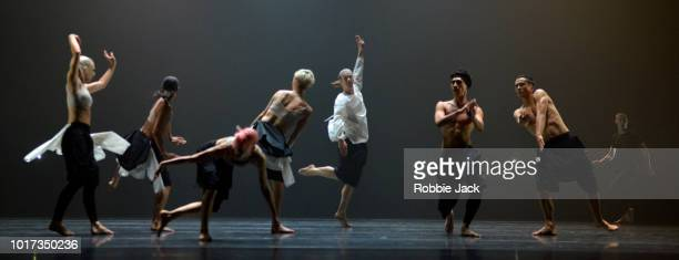 Artists of the company in Company Wayne McGregor's production Autobiography at The Festival Theatre as part of the Edinburgh International Festival...