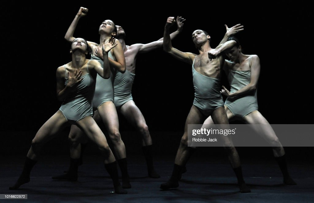 Artists of the company in L-E-V Dance Company's production of Sharon Eyal's Love Chapter 2 as part of the Edinburgh International Festival 2018 on August 10, 2018 in Edinburgh, Scotland.