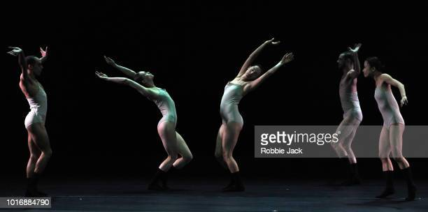 Artists of the company in LEV Dance Company's production of Sharon Eyal's Love Chapter 2 as part of the Edinburgh International Festival 2018 on...