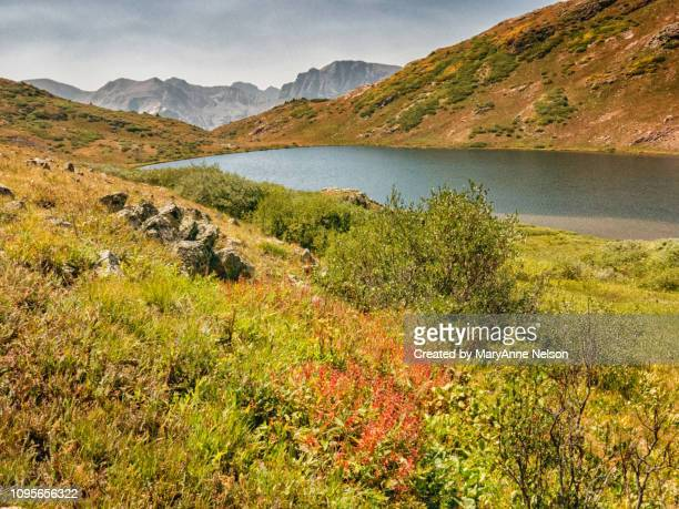 august at verde mountain lake - mary lake stock photos and pictures