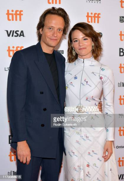 August Diehl and Valerie Pachner attends the A Hidden Life premiere during the 2019 Toronto International Film Festival at The Elgin on September 09...