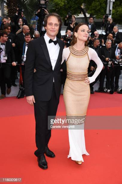 August Diehl and Valerie Pachner attends the screening of A Hidden Life during the 72nd annual Cannes Film Festival on May 19 2019 in Cannes France