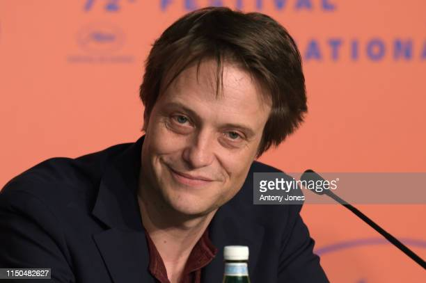 August Diehl attends the A Hidden Life Press Conference during the 72nd annual Cannes Film Festival on May 20 2019 in Cannes France