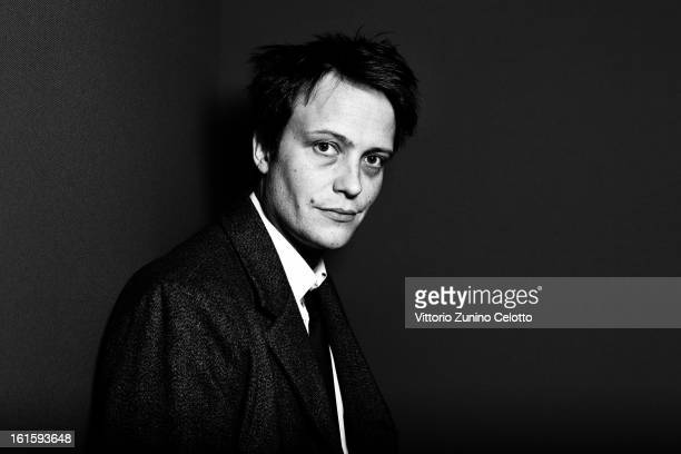 August Diehl attends the 'Leyla Fourie' Portrait Session during the 63rd Berlinale International Film Festival at the Berlinale Palast on February 12...