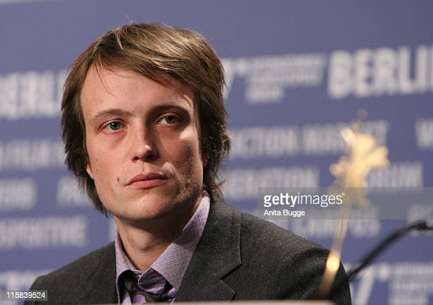August Diehl during The 57th Berlinale International Film Festival The Counterfeiters Press Conference at Grand Hyatt in Berlin Berlin Germany