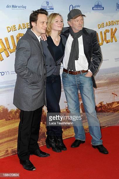 August Diehl Rosalie Thomass and Michael Gwisdek attend 'Tom Sawyer Huckleberry Finn' Germany Premiere at Kino in der KulturBrauerei on December 16...