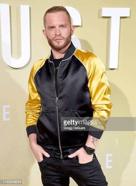 August Getty arrives at the Premiere Of MGM's The Hustle at ArcLight Cinerama Dome on May 8 2019 in Hollywood California