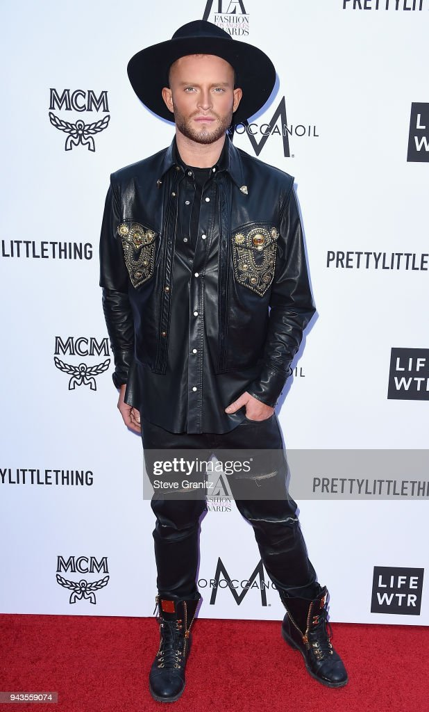 August Getty attends The Daily Front Row's 4th Annual Fashion Los Angeles Awards at Beverly Hills Hotel on April 8, 2018 in Beverly Hills, California.