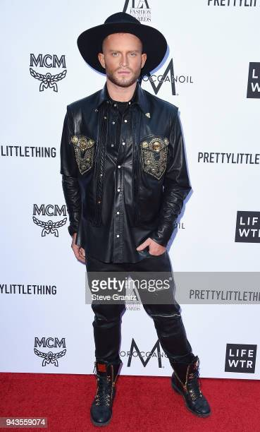August Getty attends The Daily Front Row's 4th Annual Fashion Los Angeles Awards at Beverly Hills Hotel on April 8 2018 in Beverly Hills California