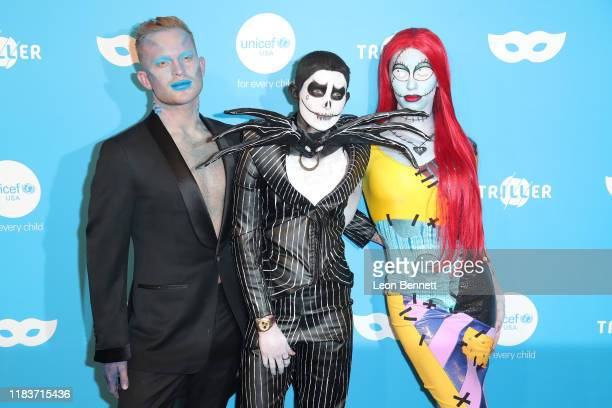 August Getty Nats Getty and Gigi Gorgeous attend UNICEF Masquerade Ball at Kimpton La Peer Hotel on October 26 2019 in West Hollywood California