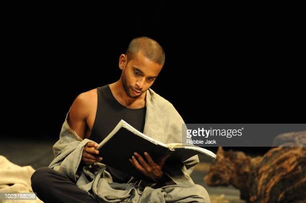 Hiran Abeysekera in Theatre des Bouffes du Nord's production of Peter Brook and MarieHelene Estienne's The Prisoner directed by Peter Brook and...