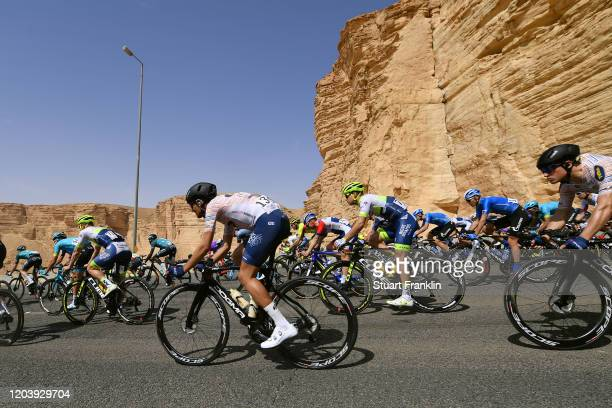 August Jensen of Norway and Team Riwal Readynez / Wesley Kreder of The Netherlands and Team Circus-Wanty Gobert / Peloton / during the 1st Saudi Tour...