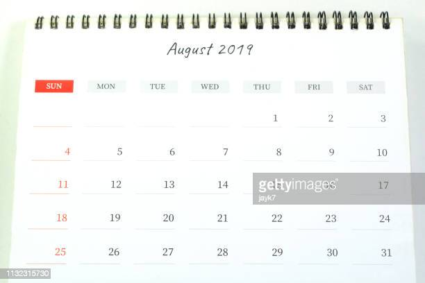 august month calendar - august stock pictures, royalty-free photos & images