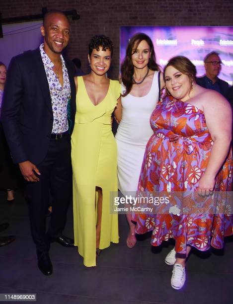 J August Richards Michele Weaver Sarah Wayne Callies and Chrissy Metz attend the Entertainment Weekly PEOPLE New York Upfronts Party on May 13 2019...