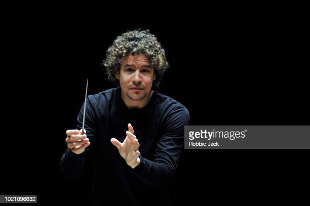 Robin Ticciati conducting The Scottish Chamber Orchestra at The Usher Hall as part of the Edinburgh International Festival on August 18 2018 in...