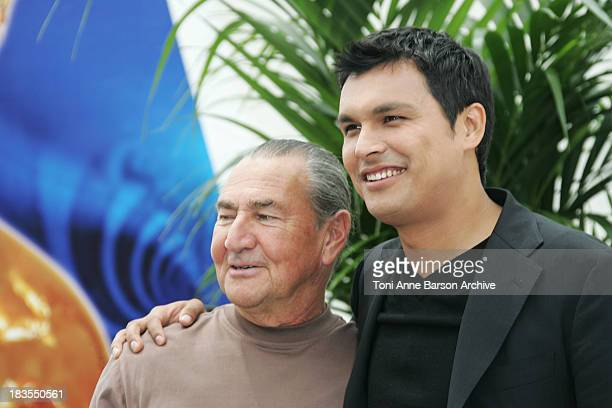 August Schellenberg and Adam Beach during 2007 Monte Carlo TV Festival Bury my Heart at Wounded Knee Photocall at Grimaldi Forum in Monte Carlo Monaco